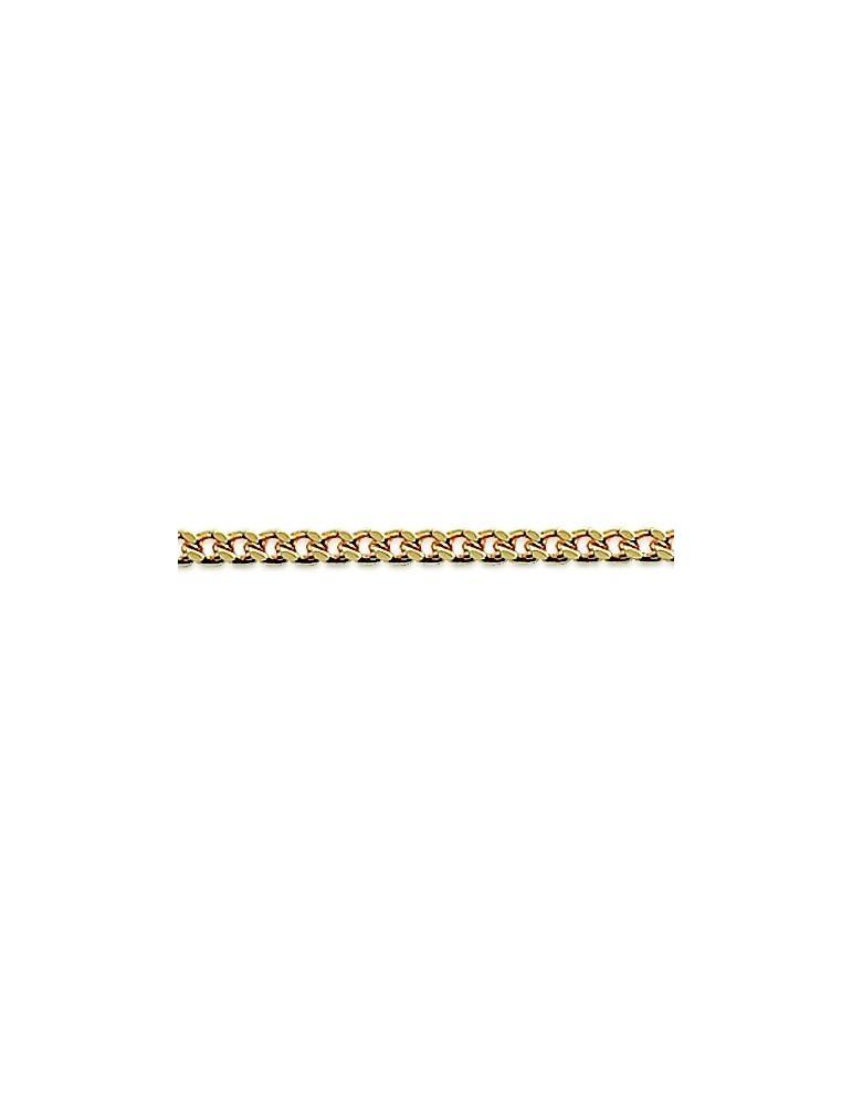 Chaîne plaqué or homme femme enfant maille gourmette 1.6 mm 40 cm