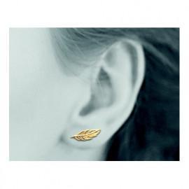 Contours d'oreilles plaqué or femme avec plumes LBIJOUX - 2