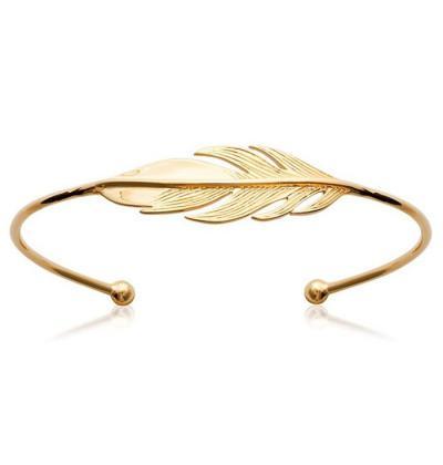 femme bracelet jonc plume