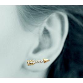 Contours d'oreilles plaqué or femme flèches et oxydes LBIJOUX - 2