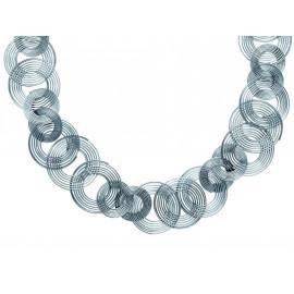 Collier acier femme spirales 45 cm  - 1