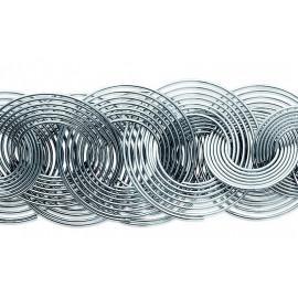 Bracelet acier femme spirales 19 cm  - 1