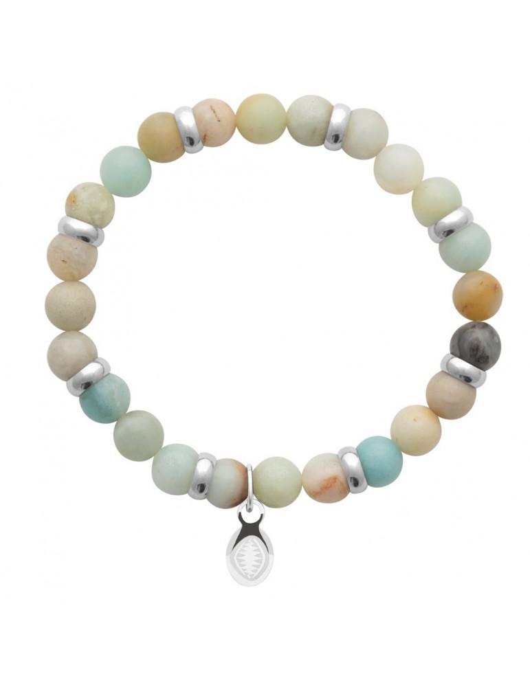 Bracelet extensible homme femme perles amazonite naturelle LBIJOUX - 1