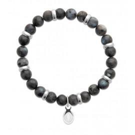Bracelet extensible homme femme perles labradorite naturelle LBIJOUX - 1