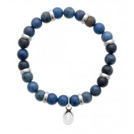 Bracelet extensible homme femme perles sodalite naturelle