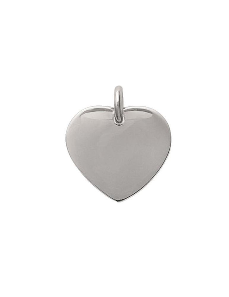 Pendentif acier cœur femme - Gravure offerte
