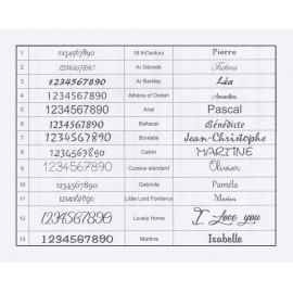 Pendentif argent 925 rhodié cœur - Gravure offerte