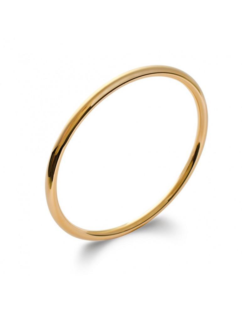 Bracelet jonc plaqué or fil rond femme