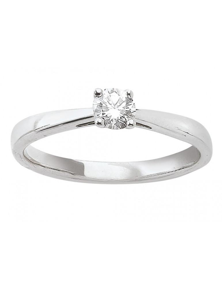Solitaire or 750 (jaune, rose ou blanc) diamant de synthèse certifié 0.40 ct