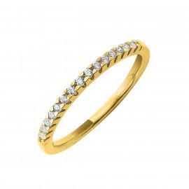 Alliances or 750 jaune et diamants de synthèse certificat offert