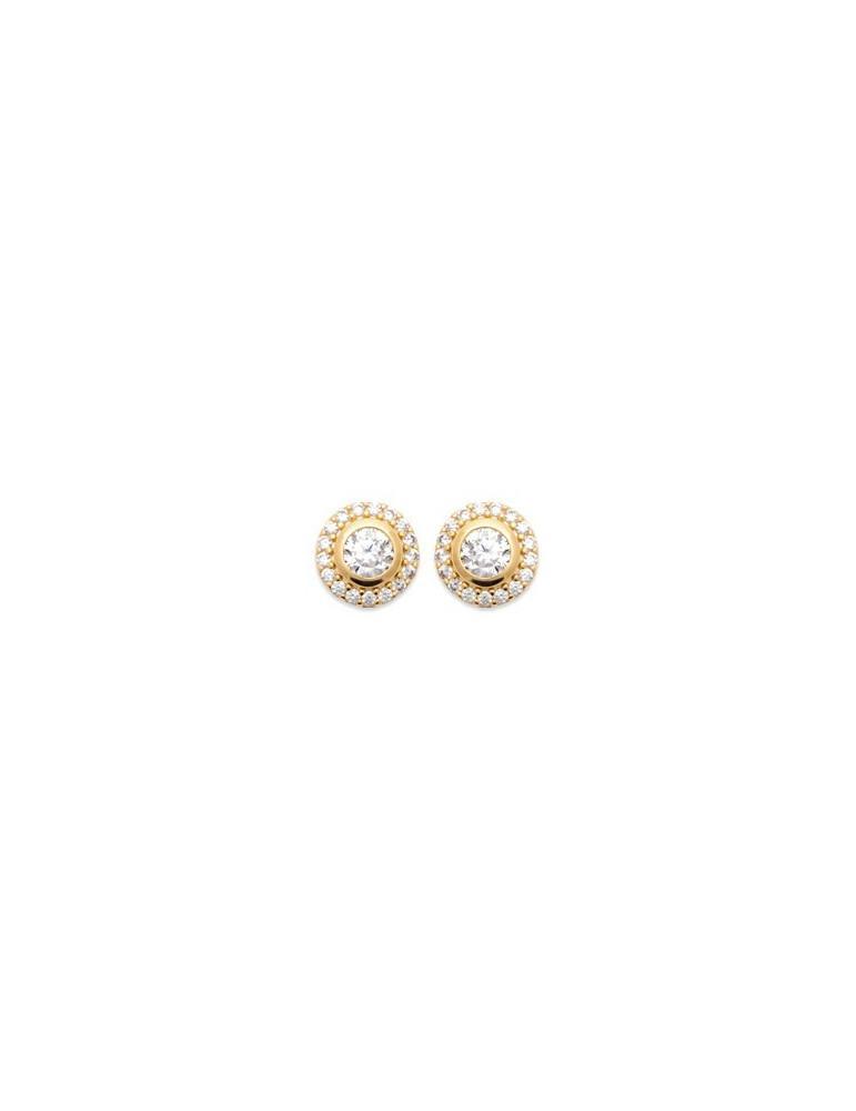 Boucles d'oreilles plaqué or joaillerie oxydes