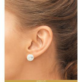 Boucles d'oreilles plaqué or et nacre femme