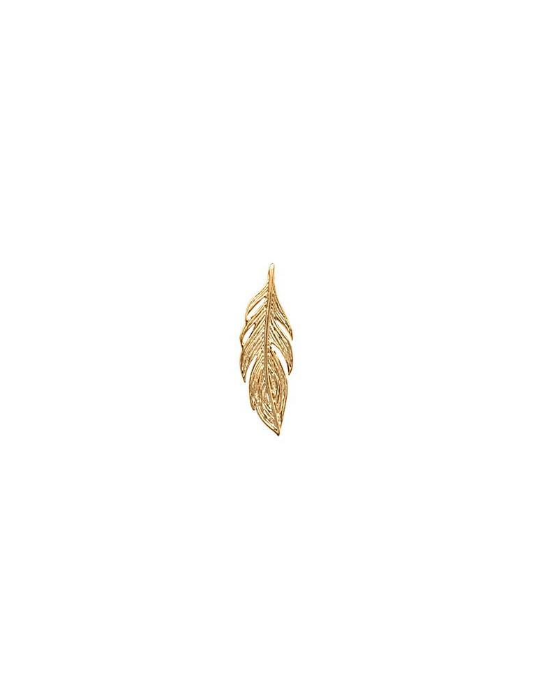 Pendentif plaqué or femme plume