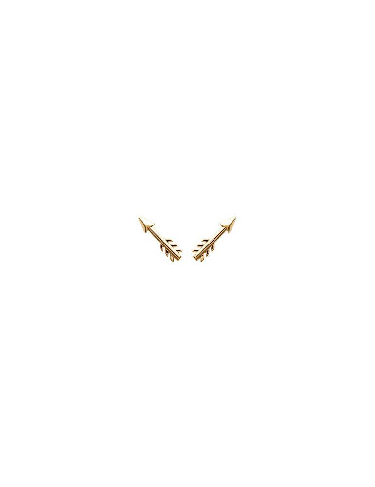 Boucles d'oreilles plaqué or femme flèche LBIJOUX - 1
