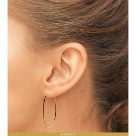 Boucles d'oreilles créoles plaqué or torsadées 60 mm femme