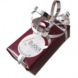 Bracelet jonc plaqué or ouvert perlé nacre et quartz rose femme