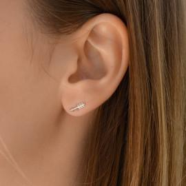 Boucles d'oreilles plaqué or femme flèche LBIJOUX - 2