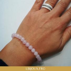 """Bracelet perles quartz rose """"Apaisement et Soulagement"""" femme et homme"""