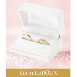 Alliance diamants et or 750 rose navettes cercles femme