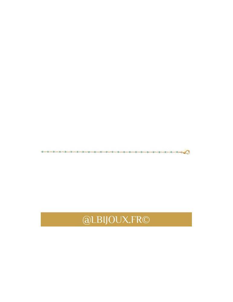 Bracelet plaqué or et Miyuki différentes couleurs