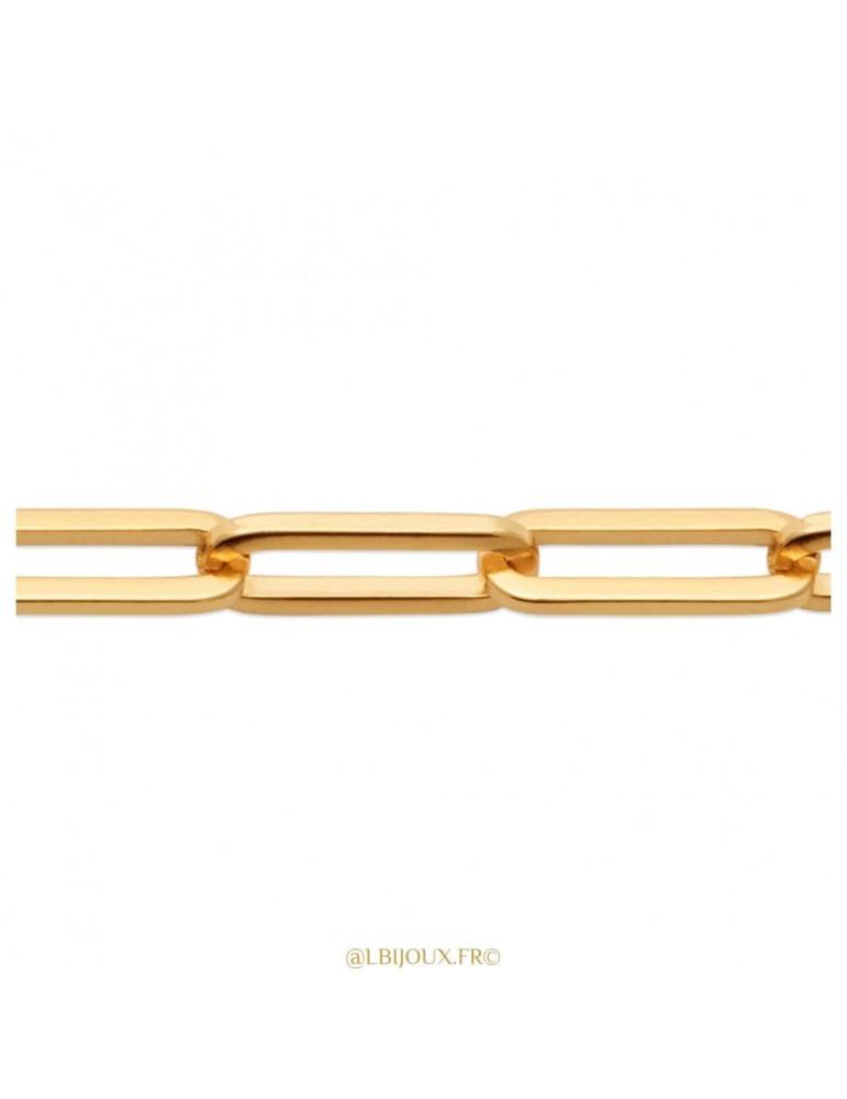 """Bracelet plaqué or style """"Cartier"""" homme ou femme 19 cm"""
