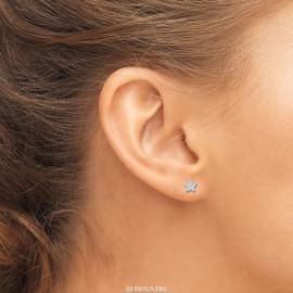 Boucles d'oreilles argent 925 étoiles