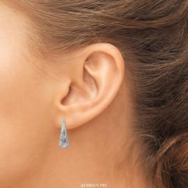 Boucles d'oreilles argent perlées femme