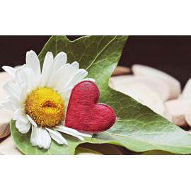 Bague plaqué or mat fleur ajourée femme