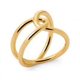 Bague large plaqué or gros anneaux femme