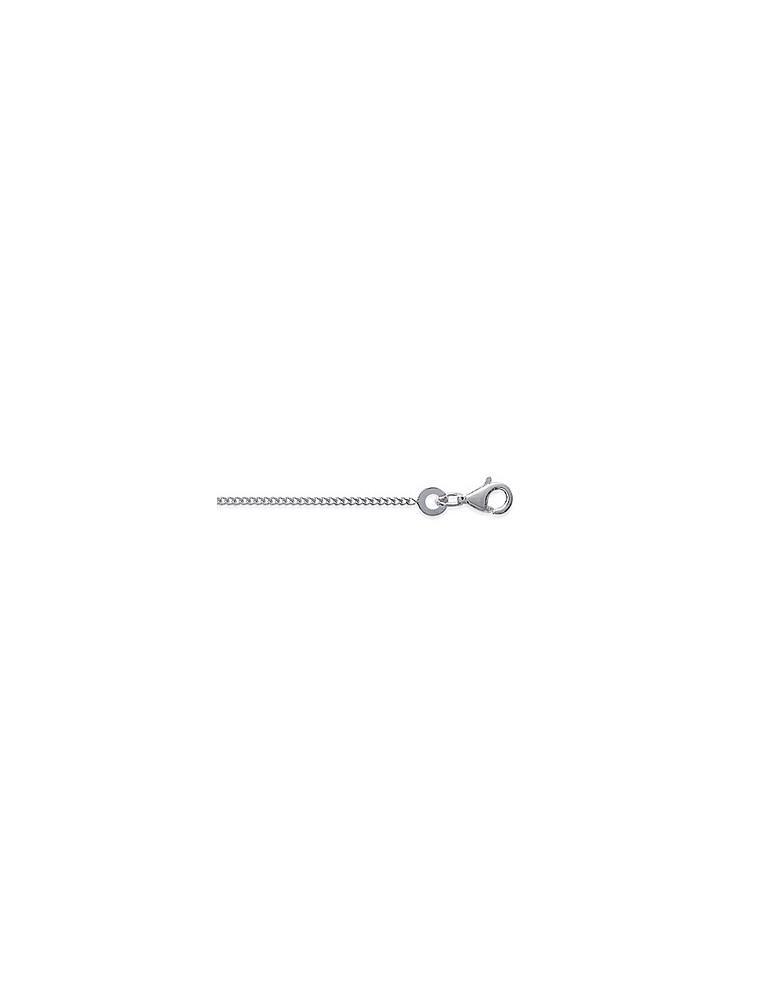 Chaine argent 925 rhodié homme femme maille gourmette 1.25 mm