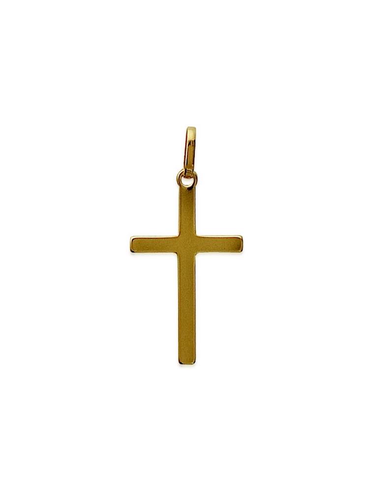 Pendentif plaqué or croix
