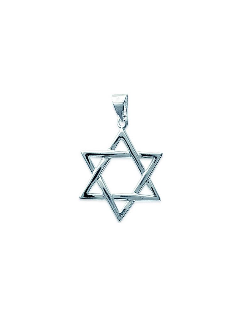 Pendentif argent 925 étoile juive