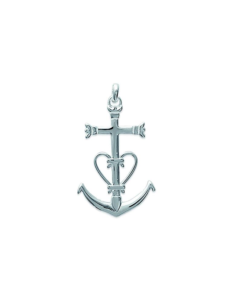 Pendentif argent 925 croix de Camargue