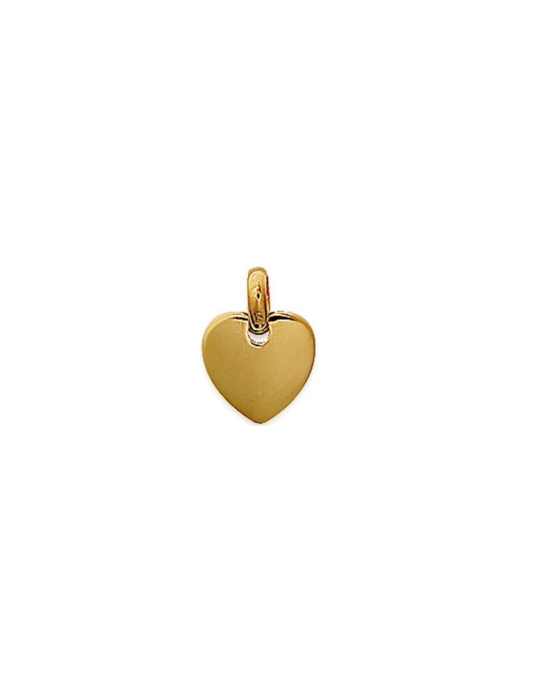 Pendentif plaqué or coeur P.M - Gravure offerte