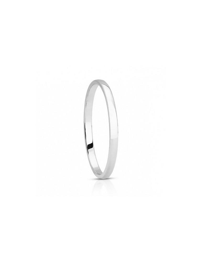 Alliance femme or 750/°° blanc palladié demi jonc femme 1,5 mm