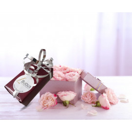 Alliance homme or 750 bicolore rose et blanc plate brossée