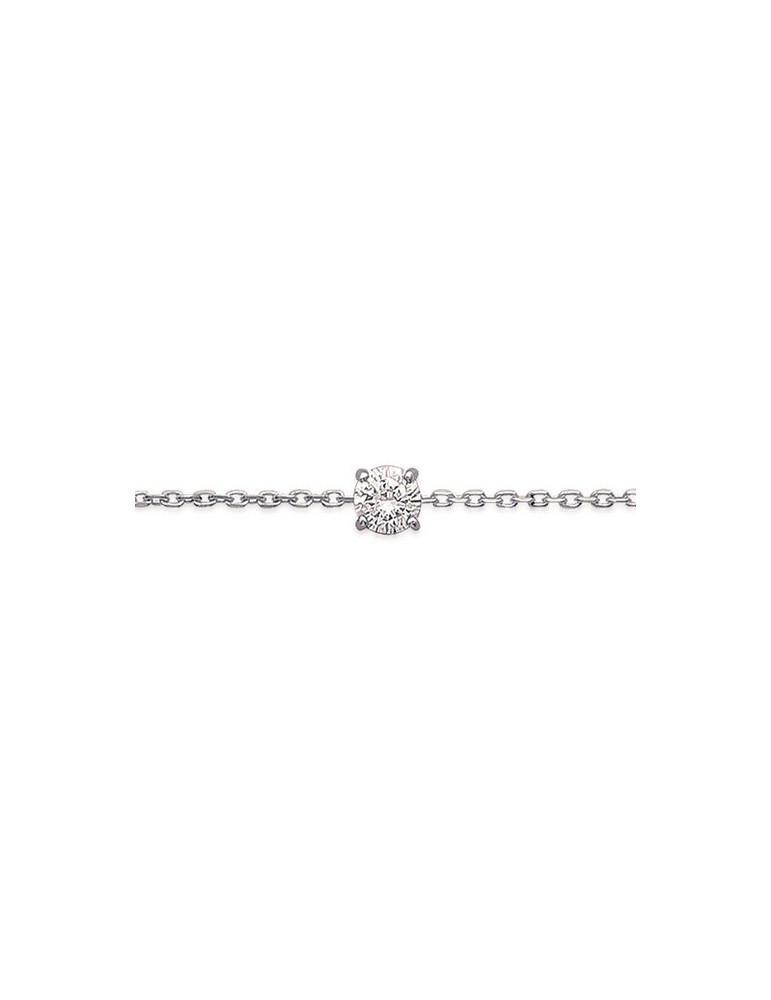 Bracelet argent 925 rhodié femme 4 mm  - 1