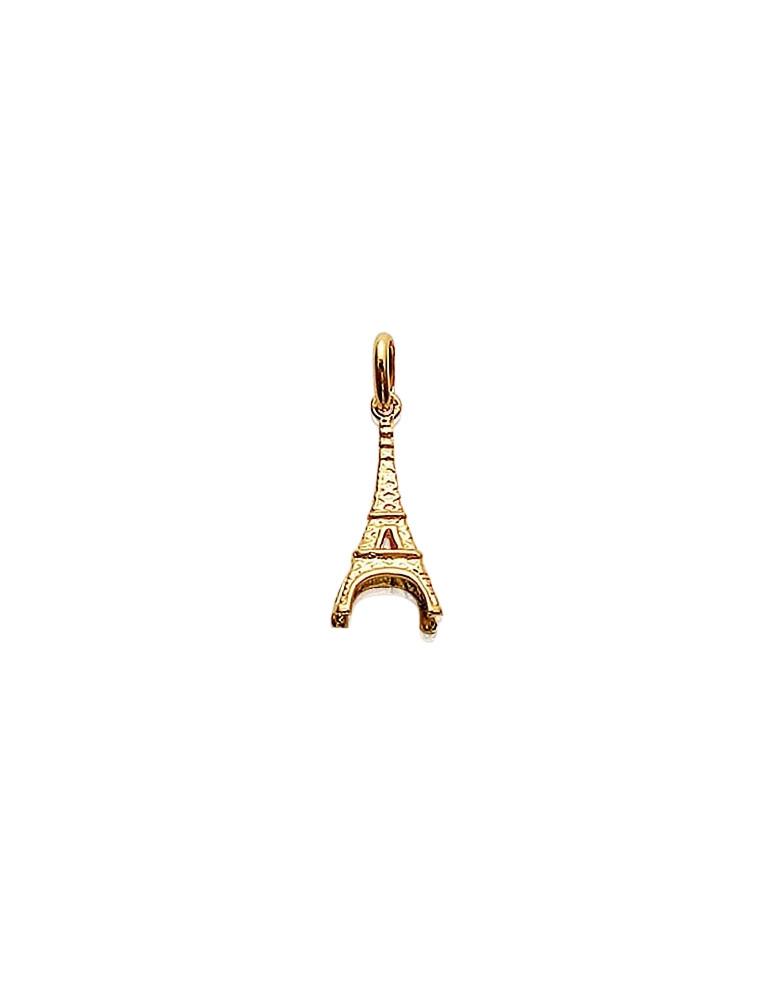 Pendentif plaqué or Tour Eiffel homme femme enfant
