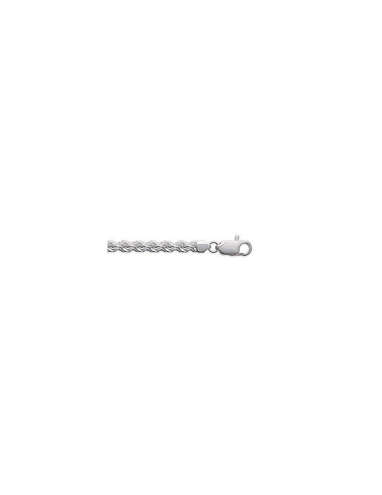 Chaîne argent 925 rhodié femme maille corde 4 mm LBIJOUX - 1