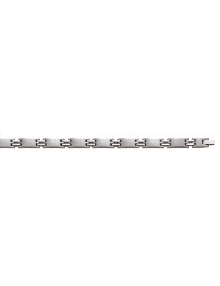 Bracelet acier homme 8 mm  - 1