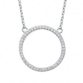 collier argent femme cercle