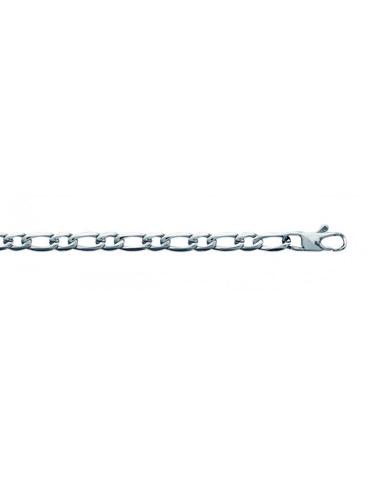 Bracelet acier homme maille alternée 4.5 mm