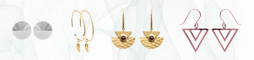 Boucles d'oreilles Lbijoux en or 750, argent, acier ou plaqué or