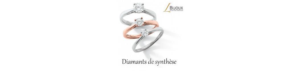 Le solitaire or 750 et diamant de synthèse by Lbijoux